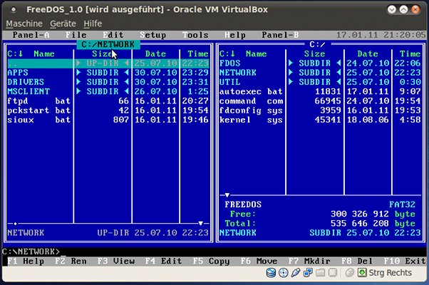 Freedos Networking In Virtualbox