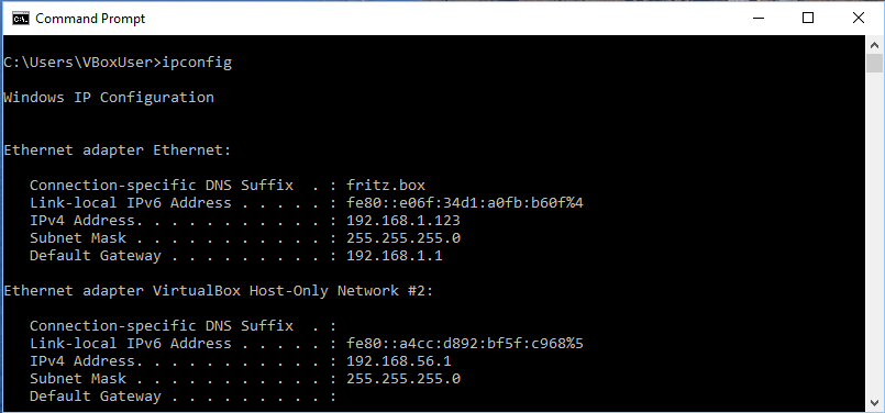 Connectivity   FreeDOS images for VirtualBox
